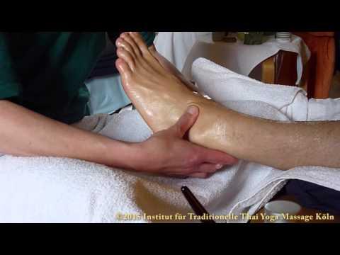 Die Abtragung die Ansätze auf den Fingern der Beine