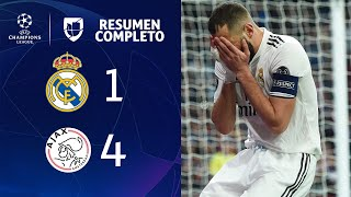 Real Madrid 1-4 Ajax – GOLES Y RESUMEN – VUELTA OCTAVOS DE FINAL – UEFA Champions League