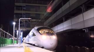 浦上駅仮設1番線を発車する白いかもめ