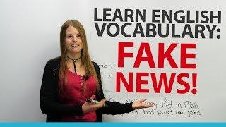 Learn English Vocabulary: FAKE NEWS