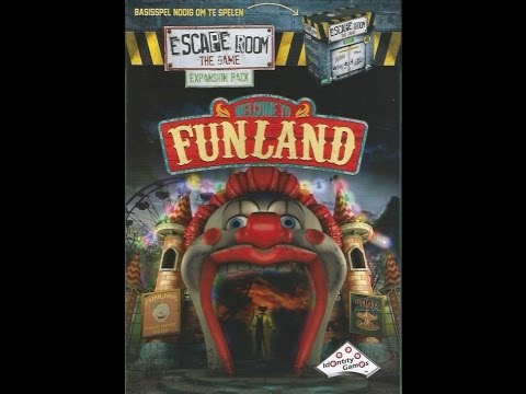 Escape Room: The Game - Welcome to Funland Playthrough   24 Hour Boardgame Marathon