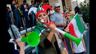 Iranian women travel 4000km to watch FIFA World Cup in Russia