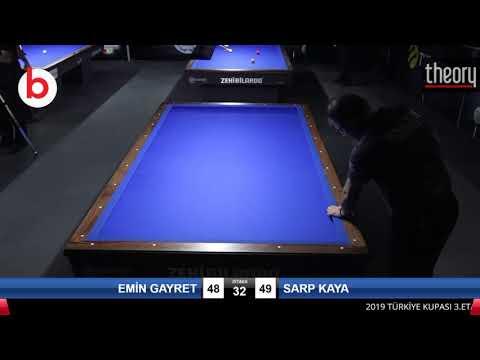 EMİN GAYRET & SARP KAYA Bilardo Maçı - 2019 TÜRKİYE KUPASI 3.ETAP-FİNAL 1/8