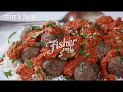 Lamb Meatballs with Walnut Romesco