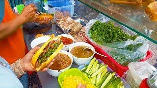 Ngỡ ngàng xe bánh mì Hội An 5 người bán ở đường phố Sài Gòn | street food of saigon