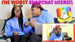 """THE WORST PEOPLE ON SNAPCHAT EVER"" REACTION!!!"