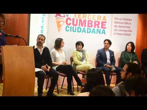 Ma. Elena Morera explica la Tercera Cumbre Ciudadana