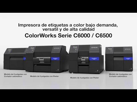 Impresoras de Etiquetas Epson ColorWorks C6000 y C6500