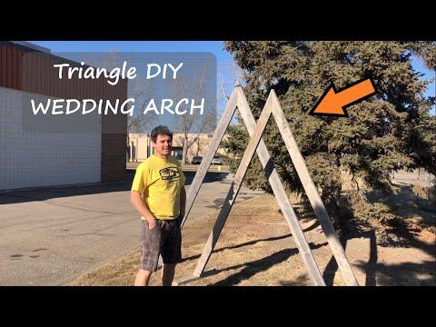 Reclaimed Wood - DIY Wedding Triangle Arch