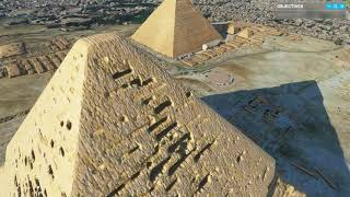 Microsoft Flight Simulator 2020 - A Complete Visit to Giza Pyramid - Great Sphinx of Giza