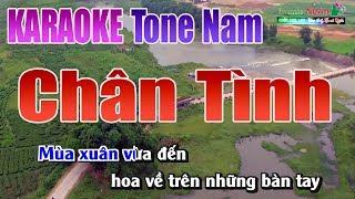 Chân Tình Karaoke | Tone Nam   Nhạc Sống Thanh Ngân