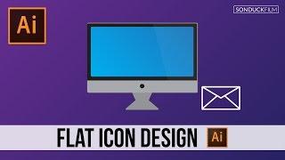 Flat Icon Design For Motion Graphics & Graphic Artists - Adobe Illustrator Tutorial