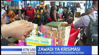 Wafanyakazi wa KTN  News washerehekea Krismasi kwa vishindo