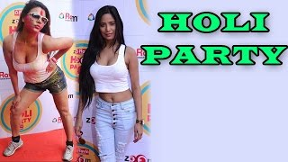 Poonam Pandey Rakhi Sawant & Other Stars At ZoOm Holi Party  EXCLUSIVE