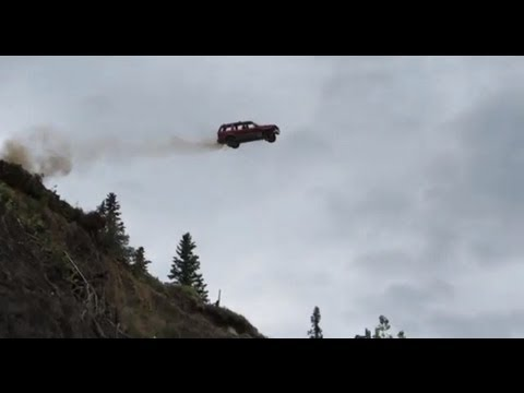 Ford Explorer Launched Off A 300' Cliff