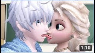 Elsa Gives Jack Frost The French Kiss