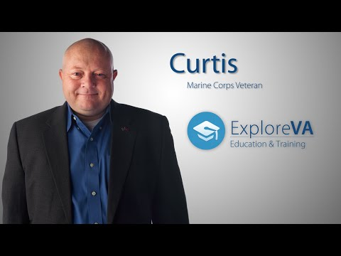 Without VA education benefits, Curtis says attending school would have been impossible.