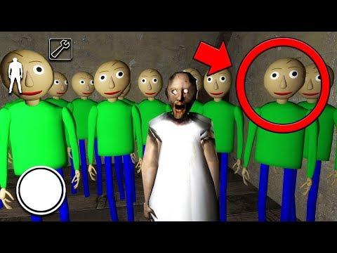 We found 100 BALDI CLONES in Granny MULTIPLAYER... (Granny Horror Game Multiplayer) (видео)