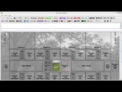 Upfront - Scenario A playthrough - Setup and Turn 1