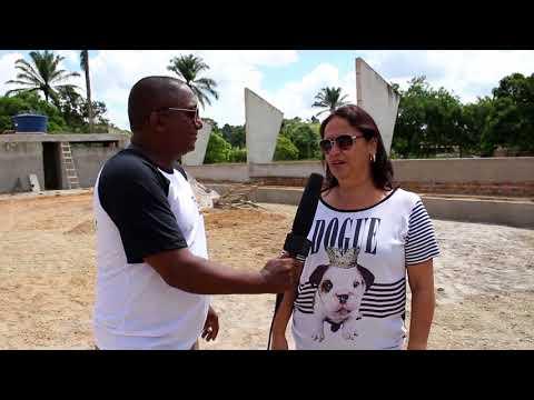 Construção da quadra em Areial - Nazaré Ba - Tv Batatinha