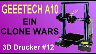 Geeetech A10 Build & Print vs Ender 3 Creality - hmong video