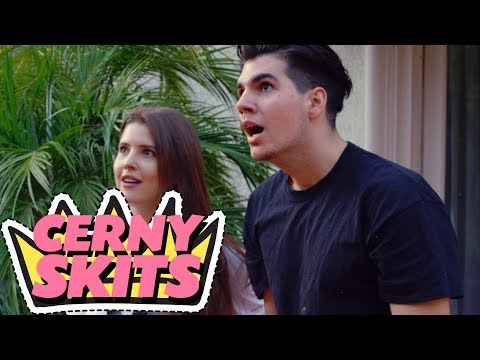 CHRISTIAN DELGROSSO vs AMANDA CERNY in basketball  - CERNY SKITS