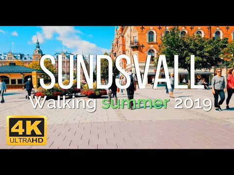 Download Sundsvall Walking in Summer , Sweden 2019 4K HD Mp4 3GP Video and MP3