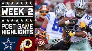 Cowboys vs. Redskins | NFL Week 2 Game Highlights