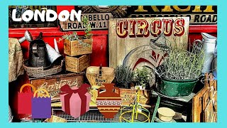LONDON: PORTOBELLO 🕰️🕺🏽 ROAD MARKET, THE 'ANTIQUES' AND STREET PERFORMERS