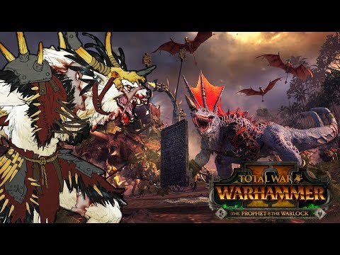WEREWOLVES and DINOSAURS - Norsca vs. Lizardmen - Total War Warhammer 2