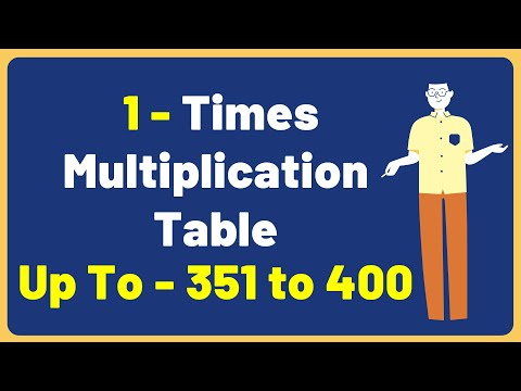 1 Times Multiplication Table up to 351 to 400 | Multiplication Time Table with Audio