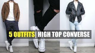 How To Style Converse High Tops   5 Outfits With Converse High Tops