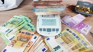 GELDWAAGE für SCHEINE und MÜNZEN im TEST!  - Zählt 0,01€ - 500€!