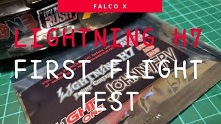 FLIGHT ONE Lightning H7 500mhz First flight test!!! U199 4Inch FPV Drone FreeStyle Flight