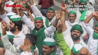 Farmers Protest Against Farm Bills At Noida-Delhi Border In Uttar Pradesh