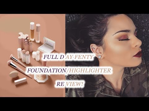 FENTY BEAUTY: First Full (All Day Wear) Foundation and Highlighter Review