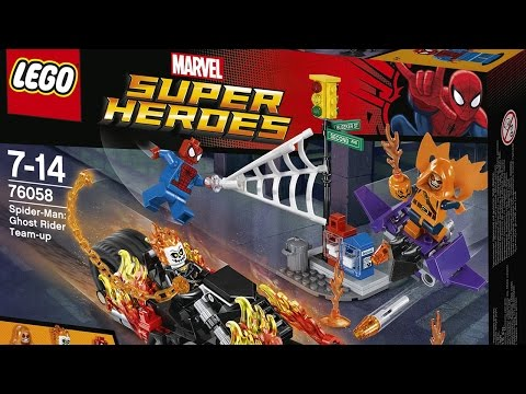 Spider-Man LEGO® 76058 Full Speed Build and Giveaway! Time Lapse Movie Review - Marvels Super Heroes (видео)