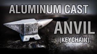 Anvil Keychain Aluminum Casting