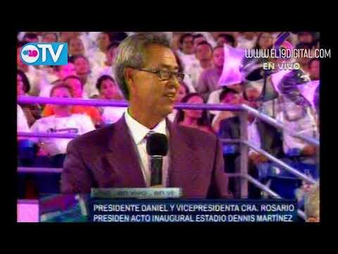 """Daniel y Rosario inauguran Estadio Nacional de Béisbol """"Dennis Martínez"""""""