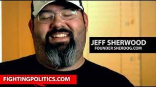 Jeff Sherwood founder SHERDOG.COM talking about Dana White and Matt Lindland UFC Versus 111