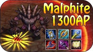 1300 AP Malphite - Dieser Stein macht Schaden - 100% Ult skalierung