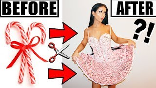 MAKING A DRESS OUT OF CANDY CANES!