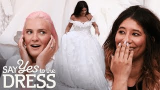 Entourage Shocked by Dress the Bride Tries On!   Say Yes To The Dress UK