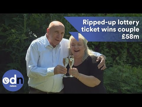 Ripped-up lottery ticket wins couple £58m