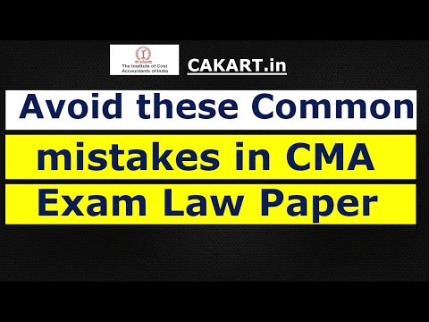 CMA Intermediate Law paper - Avoid these mistakes
