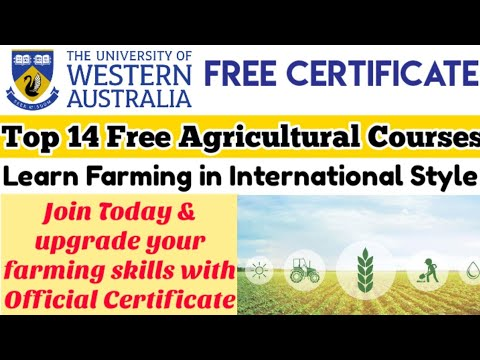 Agricultural free Courses with Certificate | Western Australia University Course | Fresh Learner
