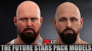 WWE 2K17: All DLC Models from Future Stars Pack in Superstar Studio!