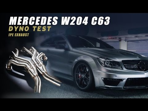 TEST- Mercedes C63 AMG(W204) with iPE exhaust