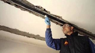 How to make a reinforcement of beams with carbon fiber sheets Sika Carbodur