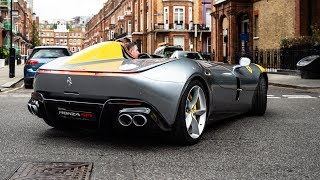 FIRST $1.7 MILLION FERRARI MONZA SP1 DRIVING in LONDON!!
